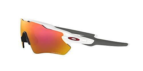 Oakley Men's OO9208 Radar EV Path Shield Sunglasses, Polished White/Prizm Ruby, 38 mm