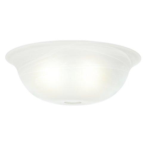 Casablanca 99057 Swirled Marble Standard Shape Glass Bowl,White
