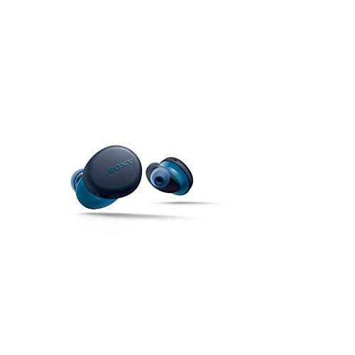 Sony WF-XB700 True Wireless EXTRA BASS Kopfhörer (bis zu 18h Akkulaufzeit mit Lade-Hülle, IPX4 - spritzwassergeschützt, ergonomisches Design, stabile Bluetooth Verbindung, Headset mit Mikro), blau