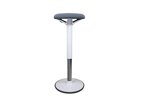 Ergotopia® Dykó höhenverstellbarer Bürohocker, ergonomischer Steh-Sitzhocker mit dynamischem Standfuß für aktives Sitzen, als Stehhilfe perfekte Ergänzung für höhenverstellbare Schreibtische (Grau)