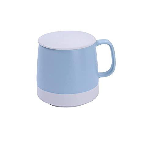 CGDX Juego de tazas de café de porcelana, tazas grandes de café y cereales, tazas de cerámica con asa para hombres, mujeres, regalo de San Valentín, multicolor, azul, A