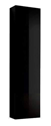 mobiletto bagno nero lucido muebles bonitos Mobile pensile sospeso Moderno Modello Amalfi Nero