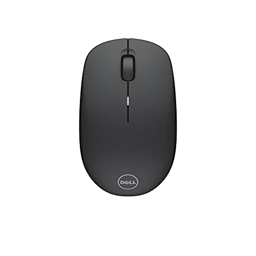 Dell Wireless Mouse – WM126 Black, Nicely Contoured Mouse That Feels Great in Either Hand, 2.4 GHz RF Wireless, Optical LED Sensor, 1000 dpi, 3 Buttons, up to 12 Months Battery Life,