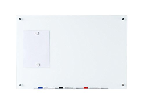 Audio-Visual Direct Magnetic Ultra White Glass Dry-Erase Board Set - 35 1/2 x 47 1/4 Inches -