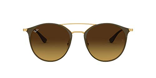 Ray-Ban Unisex-Erwachsene RB3546 Sonnenbrille, Gold (Gold Top Brown/Brown Gradient), 52