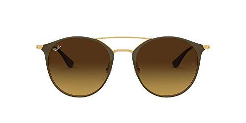 Ray-Ban Unisex-Erwachsene RB3546 Sonnenbrille, Gold (Gold Top Brown/Brown Gradient), 52