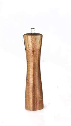 Ulalaza Amoladora de Molinillo de Sal y Pimienta de Madera Rotor de cerámica Alto de 8 Pulgadas / 22 cm con Fuerte aspereza Ajustable