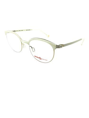 ETNIA BARCELONA SEOUL WHGD 49, occhiali da vista da donna, montatura in metallo con dettagli in acetato bianco perla.