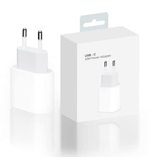 ICSON EASY SPEED Cargador USB C de 20 W Fuente de alimentación USB C PD 3.0 Adaptador de Corriente USB C Enchufe de Carga Compatible con iPhone 12, 12 Mini, 12 Pro, 12 Pro MAX, 11, SE 2020