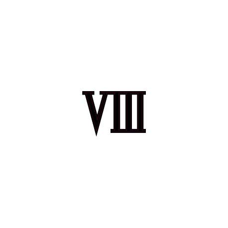 Nummerplaat, Romeinse cijfers 8, zelfklevend, zwart, ref. 68 17 cm