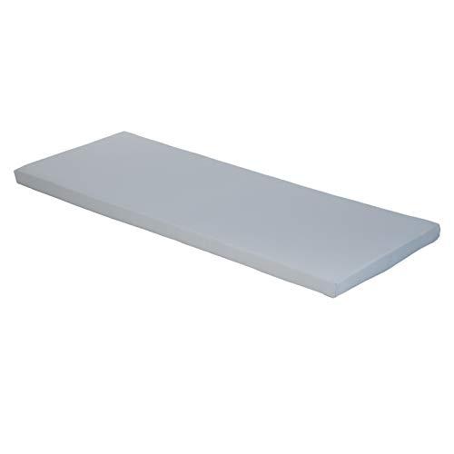 Gardenista | Garden Bench Cushion 3 Seater Outdoor/Indoor Water Resistant & Fire Retardant Cushion Patio Furniture Pad (Grey)