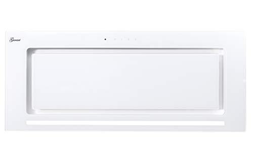 Gurari 217 Weiße Einbau Dunstabzugshaube,Lüfterbaustein,Deckenhaube 70cm,Rahmen & Frontblende in Weißglas,Einbauhaube,3 Stufen, 1000m³/h,Einbauhaube,Ablufthaube,Umlufthaube, 6 Watt LED,Fernbedienung