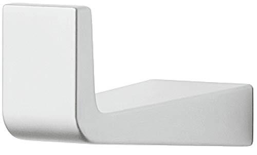 Gedotec Mantelhaken afzonderlijk garderobehaken hoekig kledinghaken chroom mat - H5080 | Diepte: 45 mm | Wandhaken onzichtbaar - verborgen geschroefd | 1 stuk - wandkapstok met schroeven voor wandmontage