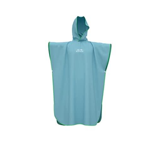 sochampion Toalla de Playa Toalla de Microfibra para Surf con Albornoz con Capucha Adecuado para Nadar y vestirse en la Playa Talla única Adecuado para Todos los Adultos Azul Claro 43 x 35 Pulgadas