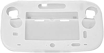 for Wii U Gamepad Controller Protective Soft Rubber Shell Case Cover Wii U Controller (White)