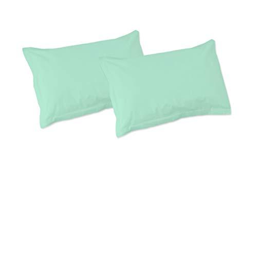 SoulBedroom Aqua Blau Grün 100% Baumwolle 2er Set Kissenbezüge 50x90 cm
