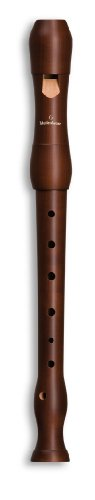 Mollenhauer 1003D Student - Flauta soprano (madera de peral, digitación alemana), color marrón oscuro