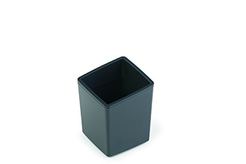 Durable 338858 - Coffee Point Bin, Mini Cestino per Rifiuti, in Plastica, Lavabile in Lavastoviglie, 79 x 79 x 100 mm (L x H x P), Carbone