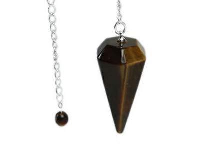 Cuello cono en piedra natural por adivinación, radiestesia, curación y clarividencia (Ojo de Tigre)