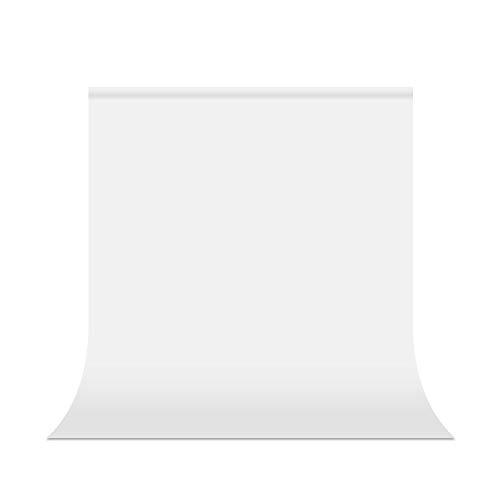 UTEBIT Backdrop Weiß 1,5x2m / 5x7ft Fotohintergrund Weiss Faltbare Fotostudio Hintergrund 100% Polyester Fotografie Hintergrundstoff mit Stangentasche für Hintergrundstand Fotostudio Porträt Produkt