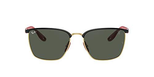 Ray-Ban 0RB3673M Gafas, BLACK ON ARISTA, 56 Unisex