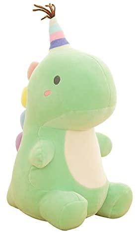 YWKXROM Super Suave Encantadora Dinosaurio de Felpa de dinosauri Animado de Dibujos Animados Animal Dino Juguetes para niños bebé Abrazo muñeca Amortiguador durmiendo decoración del hogar 50 cm A.