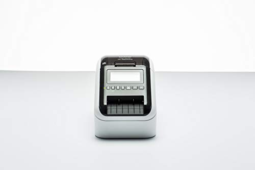 Brother QL820NWB Stampante per Etichette con Rete Cablata, Wi-Fi, Bluetooth, Compatibilità Airprint e MFi, Stampa a Due Colori Rosso e Nero