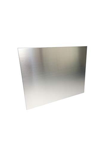 1mm Edelstahlblech gebürstet 1.4301 V2A Länge 1000/1500mm eins. Schutzfolie (700x1000mm)