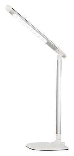 Esto Lighting 722046 Lampe de table, Plastique, 5 W, Blanc/argenté, 30 x 14.5 x 63 cm