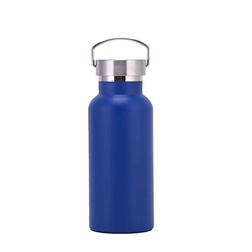 Botella deportiva de acero inoxidable frasco de vacío de gran capacidad hervidor de alpinismo vacío taza de agua portátil de doble capa taza de viaje