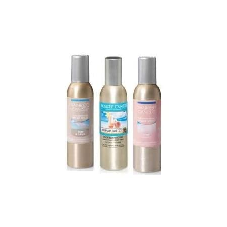 Yankee Candle 3 Pack Summer Favorites Fragrances. Bahama Breeze, Pink Sands and Sun & Sand Concentrated Room Spray 1.5 Oz.
