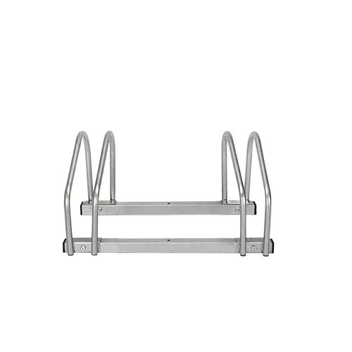 LARS360 Bicicleta Soporte para 2 bicicletas de suelo y pared montaje más soporte Triple Twin Bicycle Stand
