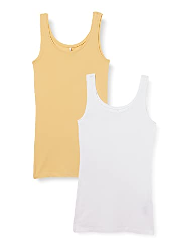Only Onllive Love New Long TT 2PACK Noos Camiseta sin Mangas, Jojoba/Paquete:...