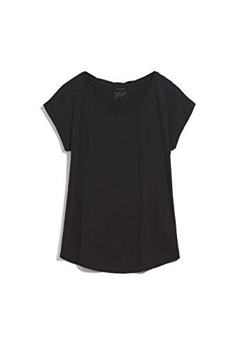 ARMEDANGELS Damen T-Shirt aus Bio-Baumwolle - Laale - S Black 100prozent Baumwolle (Bio) Shirts T-Shirt Kurzarm R&hals