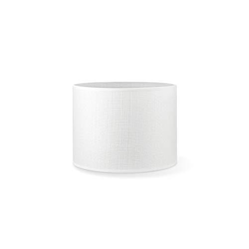Home Sweet Home Collection – Sombrilla para salón y dormitorio Canvas marrón 50 cm, Algodón y lino, Blanco, 25 cm