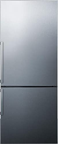 """FFBF287SSIM 28"""" Counter Depth Bottom Freezer Refrigerator with 16.39 cu. ft. Total Capacity, 4.71 cu. ft. Freezer Capacity, 3 Glass Shelves, Crisper Drawer, Field Reversible Doors, Right Hinge, Frost Free Defrost, Energy Star Certified in Stainless Steel"""