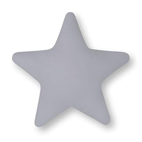 Amilian Coussin décoratif en forme d'étoile Gris 28 cm