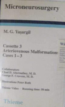 Pt.3 : Arteriovenous Malformations, 1 Videocassette [VHS]