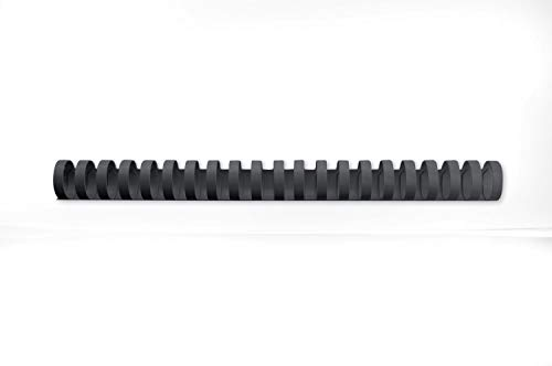 GBC 4028182 CombBind Binding Combs, 25 mm, 225 Sheet Capacity, A4, 21 Ring, Black, Pack of 50