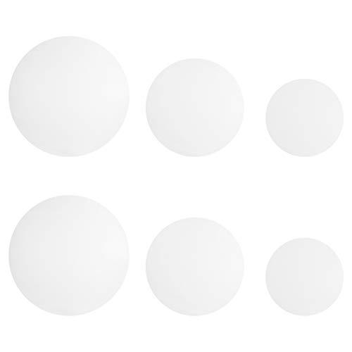 iplusmile 6 Stück Uhrenglasbecherdeckel 150Mm 100Mm 70Mm Flaschendeckel Deckel Verdunstungsschale für Labor Transparent