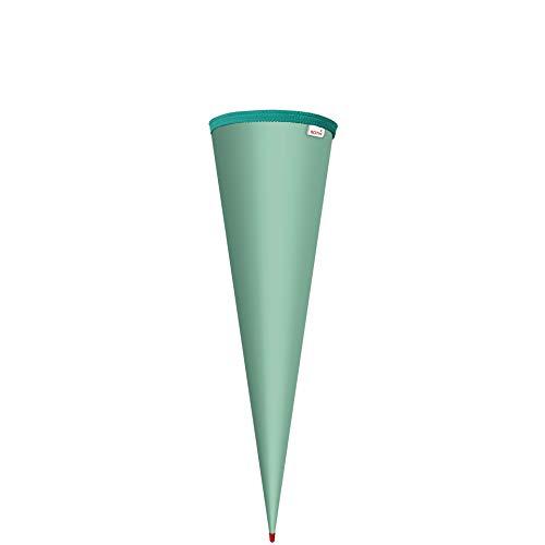 ROTH Schultüten-Rohling zum Basteln Mint - 70 cm rund - mit Rot(h)-Spitze ohne Verschluss