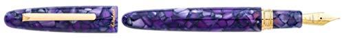Esterbrook Estie Lilac Oversized - Pluma estilográfica (acrílico, con herrajes dorados, grosor de la pluma: M, elegante caja de regalo)