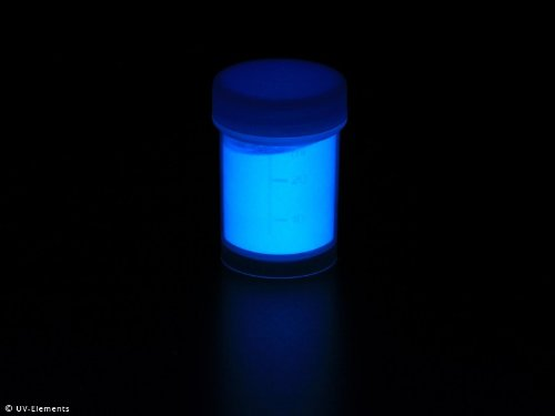 Farbechtes Nachleuchtpigment 25g - skyblue - Schwarzlicht, Farbpigment, UV, Neon