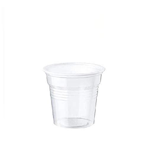 Palucart 1000 vasos de café de color transparente, 80 cc, cafetera
