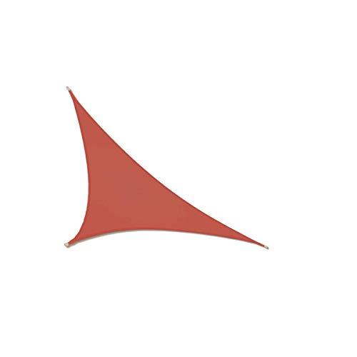 CLJ yslun Parasol para el Sol, toldo, toldo, Parasol para Fiestas en el jardín al Aire Libre, Resistente a los Rayos UV, Tela Oxford, óxido, Cuadrado Rojo, rectángulo, triángulo (3x3x4.3m)