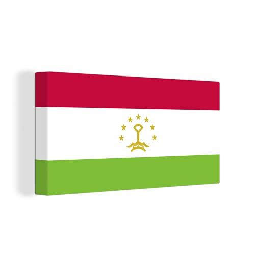 Leinwandbild - Flagge von Tadschikistan - 160x80 cm