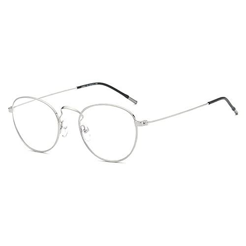 LSJA0 gafas luz azul transparentees anti-fatiga protección de la radiación Ojo de la computadora de la tableta móvil gafas-Plata