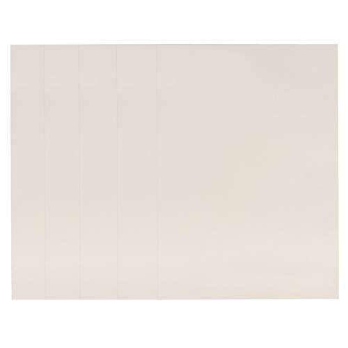 Papel de certificado NUOBESTY, 5 unidades de papel en blanco imprimible, papel de premio DIY A4 liso para certificado de graduación de 12 K de grosor para oficina escolar