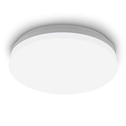 SHILOOK Led Deckenleuchte 15W 4000K, 1500lm IP65 Deckenlampe für Badezimmer/Flur/Keller/Balkon/Feuchtraum/Lagerraum, Rund Weiß 28cm