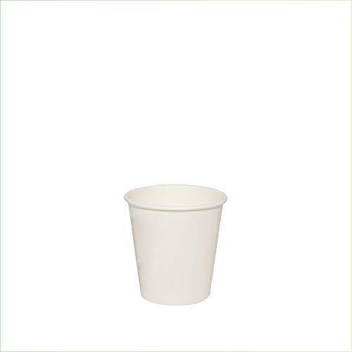 VIRSUS 500 Bicchieri in Carta per Caffe 75ml Colore Bianco biodegradabili cartoncino